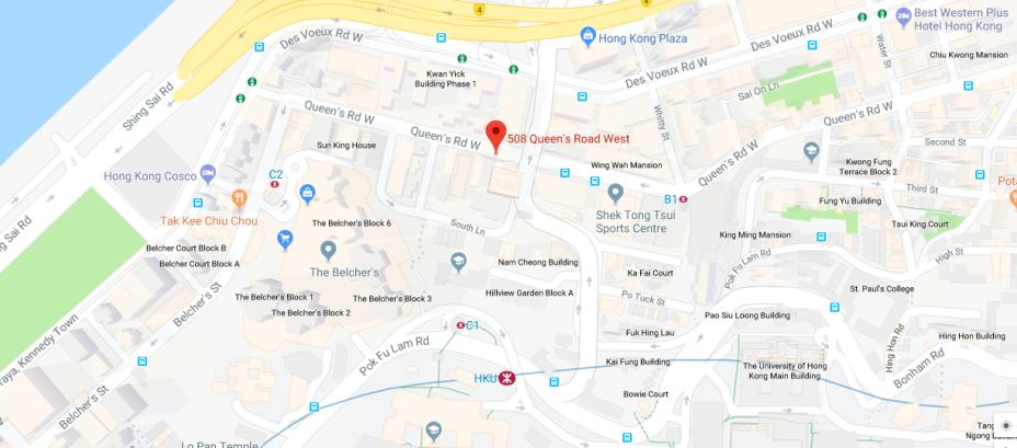 Hotel Jen Hong Kong, Map