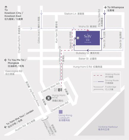 Hotel Sav, Map