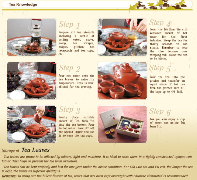 Ying Kee Tea House, Tea Knowledge