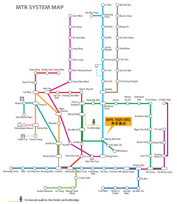Royal Plaza Hotel, MTR Map